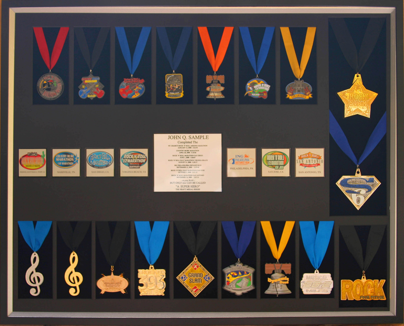 Race Medal Shadow Box 18 Medal Shadow Box