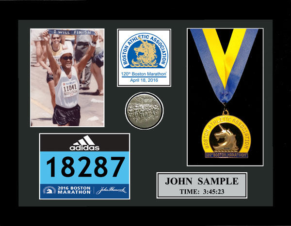 2016 Boston Marathon Plaques & Frames | Fond Memories Graphics