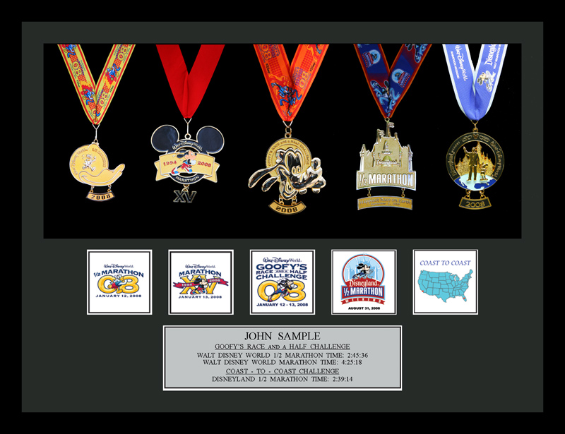 Race Medal Shadow Box Coast 5 Medal Shadow Box