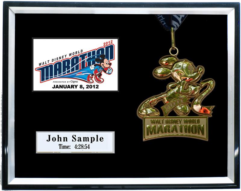 2012 Walt Disney World Marathon & Half Marathon Plaques & Frames ...