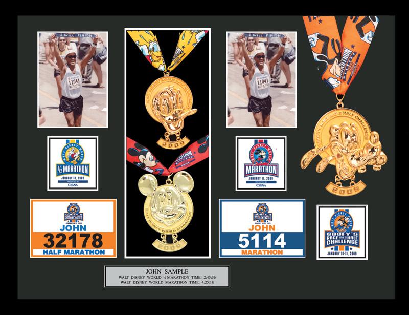 2009 Walt Disney World Marathon & Half Marathon Plaques & Frames ...