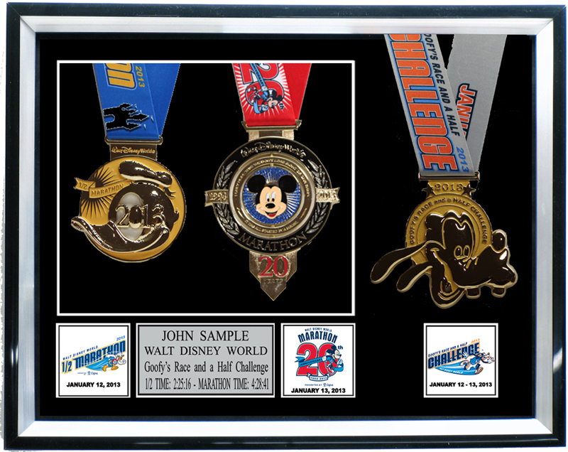 Race Medal Shadow Box Goofy's 3 Medal Shadow Box