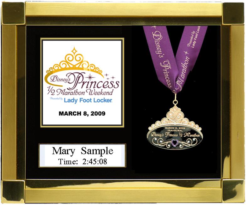 2009 Disney S Princess Half Marathon Plaques Amp Frames